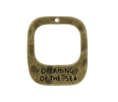Pendente Dreaming of the Sea - 30x25mm  Bronze